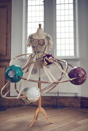 themed: Orrery Dress Steampunk Art Installation by Jema Hewitt at Greenwich Royal Observatory, England