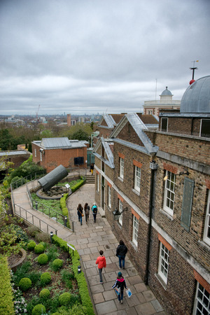 People Walking on Grounds of Greenwich Royal Observatory Building, England