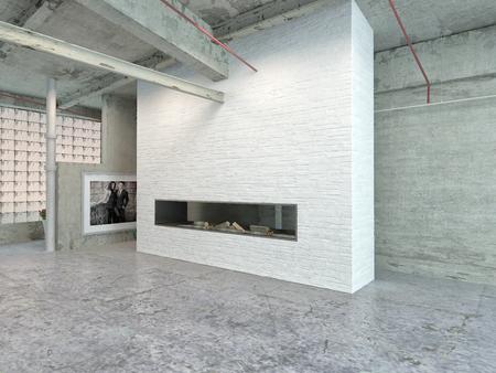 Stilvolle Architektur Haus Interior Design für Industrial Loft-Bereich.