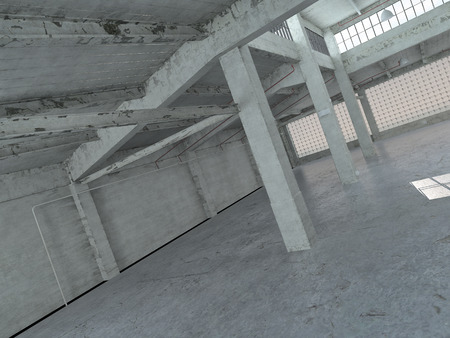 No Color Empty Spacious Architectural Building Interior Design photo