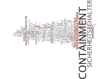 containment: Word cloud of containment in German language