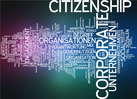 citizenship: Word cloud of corporate citizenship in German language