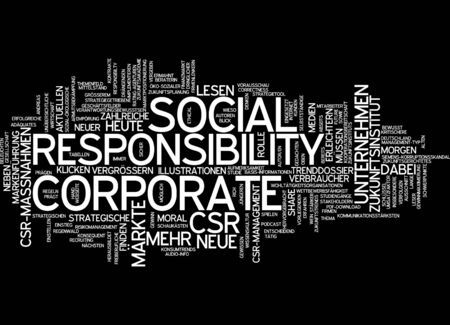 corporate responsibility: Word cloud of corporate social responsibility in German language