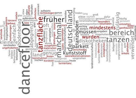 dancefloor: Word cloud of dancefloor in German language