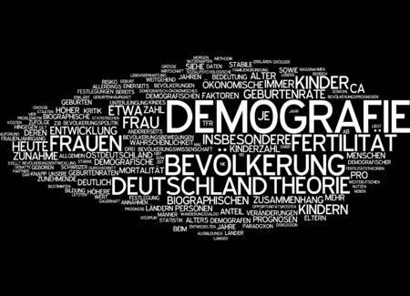statistical: Word cloud of demography in German language