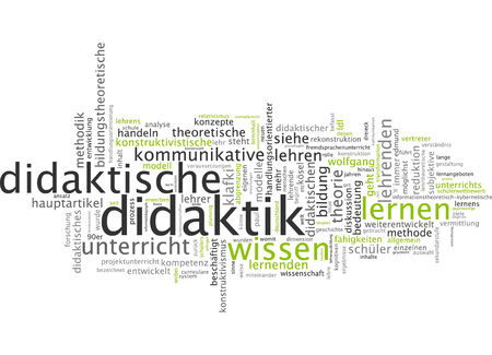 theoretical: Word cloud of didactics in German language