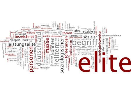 elite: Word cloud of elite in German language