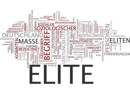 �lite: Parola nube di elite in lingua tedesca