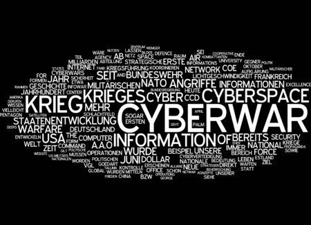 cyberwar: Word cloud of cyberwar in German language