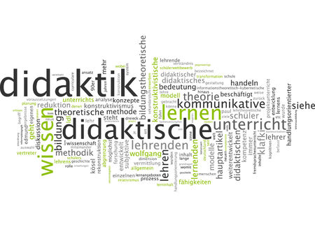 communicative: Word cloud of didactics in German language