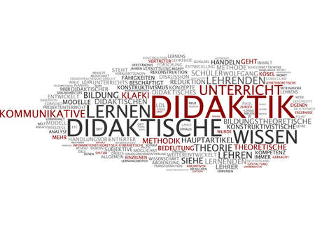 communicative: Word cloud of didactics in German language