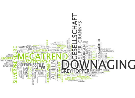 lifespan: Word cloud of downaging in German language