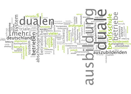 dual: Word cloud of dual training in German language
