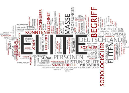 Word cloud of elite in German language photo