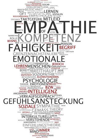 empatia: Nube de palabras de empat�a en lengua alemana