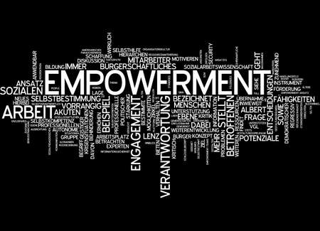 black empowerment: Word cloud of empowerment in German language