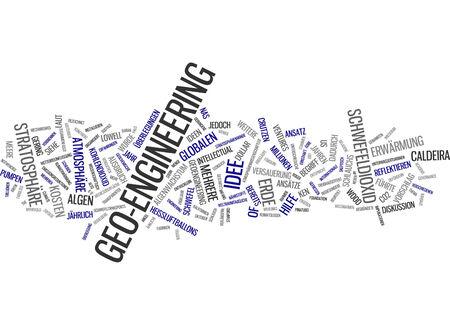 ventures: Word cloud of geo-engineering in German language