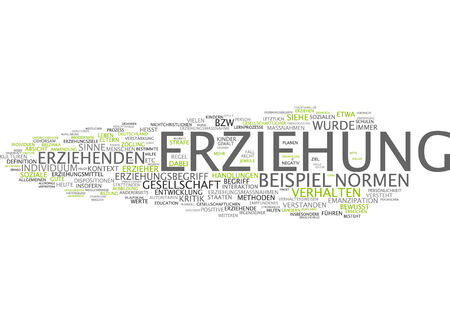 Word cloud of education in German language photo