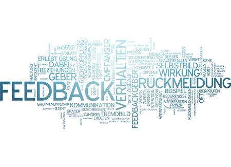 perceived: Word cloud of feedback in German language