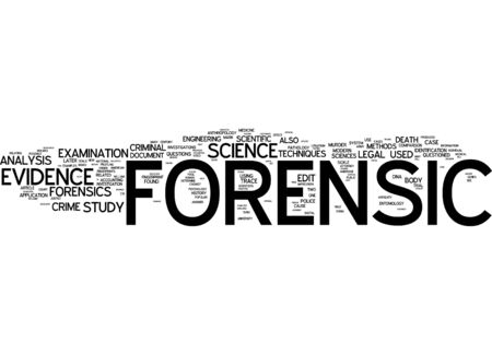 Word cloud of forensic in English language photo