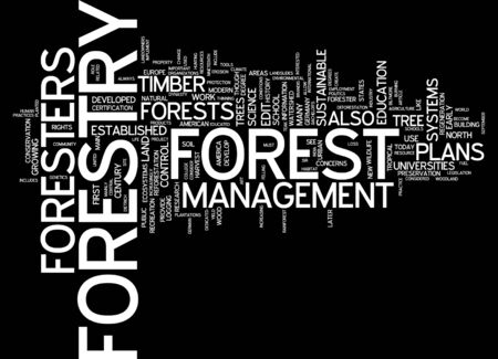 english language: Word cloud of forestry in English language