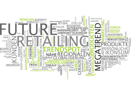 retailing: Word cloud of future retailing in German language