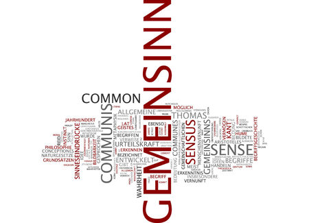 common sense: Word cloud of public spirit in German language