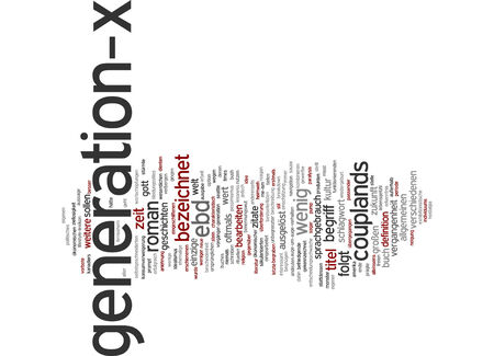triggered: Word cloud of generation-x in German language