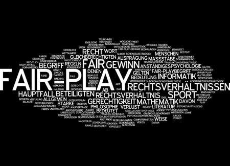 fairplay: Word cloud of fair-play in German language Stock Photo