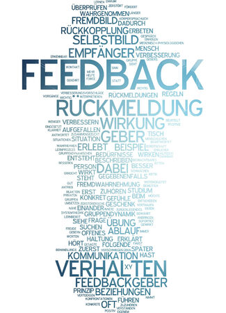 perceived: Word cloud of feedback in German language