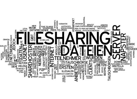 perceived: Word cloud of filesharing in German language