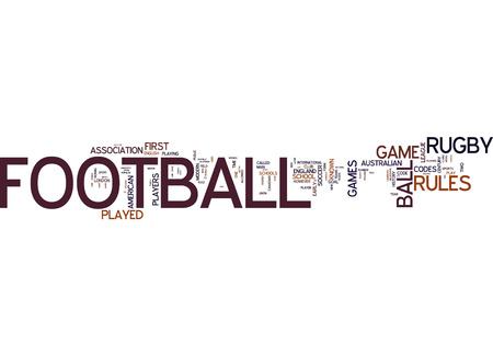 english language: Word cloud of football in English language Stock Photo