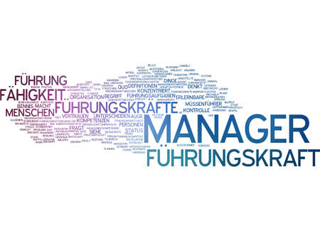Word cloud of manager in German language photo