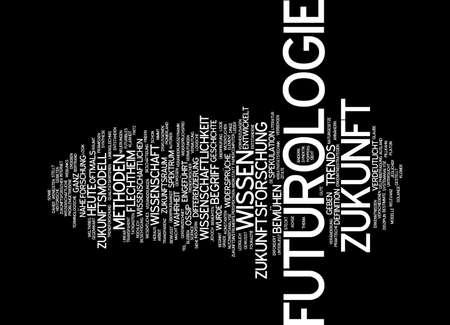 differentiation: Word cloud of futurology in German language