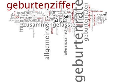 abbreviated: Parola nube di natalit� in lingua tedesca