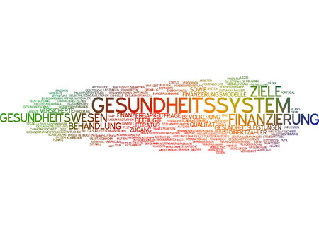 party system: Word cloud of health system in German language