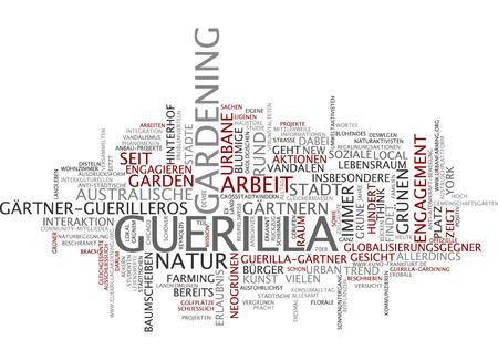 urban gardening: Word cloud of guerilla garderning in German language