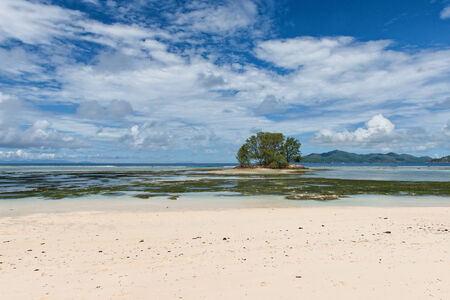 union beach: Small Island off Anse Union Beach, La Digue, Seychelles