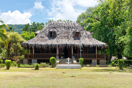 thatched house: Traditional Plantation House Museum at LUnion Estate, La Digue, Seychelles