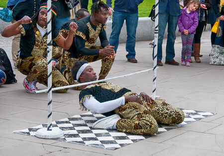 Jamaican Street artist performance at Southbank, London