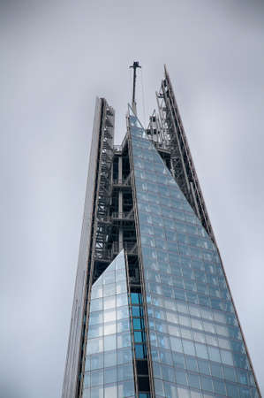 shard of glass: Exterior of THE SHARD skyscraper in London
