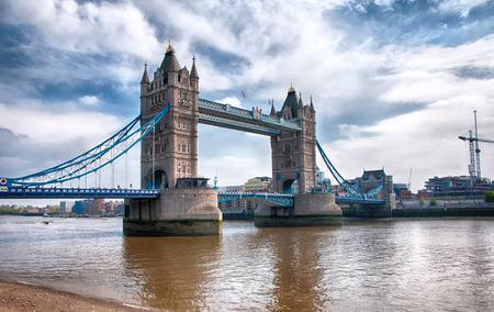 Beautiful Famous London Iconic Symbol - Architectural Vintage Tower Bridge Structure. photo