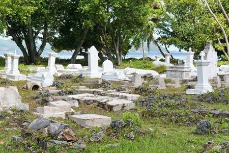 la digue: Historical Cemetery at LUnion Esate, La Digue, Seychelles