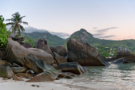 Large Rock Formations at Anse Trusalo on Mahe Seychelles photo