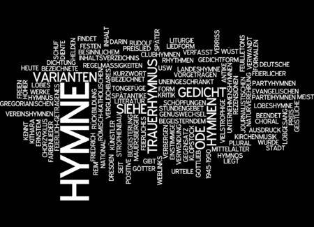 journalistic: Parola nube di inno in lingua tedesca Archivio Fotografico