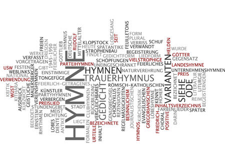 journalistic: Word cloud of anthem in German language