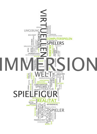 immersion: Word cloud of immersion in German language