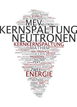 arise: Word cloud of nuclear fission in German language