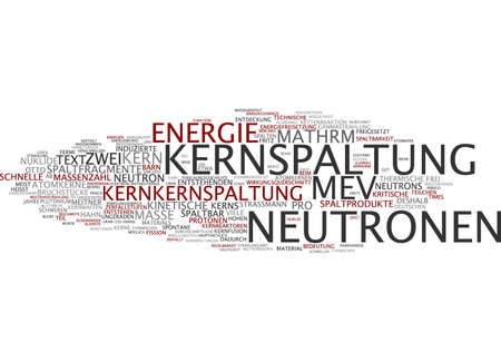 Word cloud of nuclear fission in German language