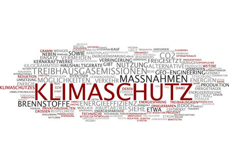 utilization: Word cloud of climate protection in German language